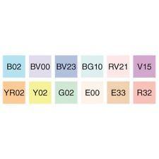 Copic® Sketch 12-Color Pastel Markers Starter Set, Qty: 1 Set