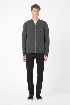 COS | Lambswool zip-up cardigan