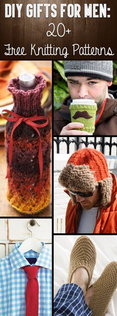 DIY+Gifts+For+Men:+20++Free+Knitting+Patterns+To+Take+Your+Loved+One+By+Surprise!