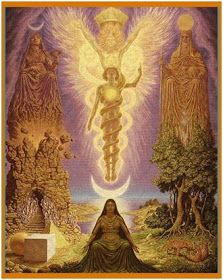 ASCs might have been employed by humans as early as years ago. Fields of application were mainly religion and spirituality. It is also use in Yoga and Meditation. Image: The Vision of Hermes Trismegistus by Johfra Bosschart Tarot, Art Visionnaire, Meditation, Esoteric Art, Psy Art, Occult Art, Mystique, Visionary Art, Divine Feminine