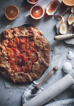 Call me cupcake: Blood orange galette with frangipane and an almond crust