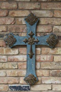 tin antique cross