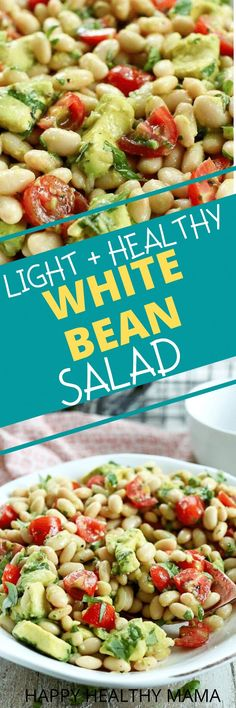 This White Bean Salad is delicious! so easy !! and so good! Vegan and gluten free.