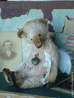 Мишки Тедди ручной работы. Ярмарка Мастеров - ручная работа Ангел, у каждого  свой....). Маришкин сундучок. Очаровательный ангел. Самый нежный... Самый настоящий...