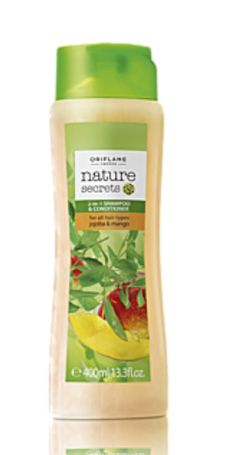 Nature Secrets Shampoo and Conditioner For All Hair Types Jojoba & Mango Nature Secret, Oriflame Cosmetics, Shampoo And Conditioner, Hair Type, Natural, Mango, The Secret, Hair Conditioner, Jojoba Oil