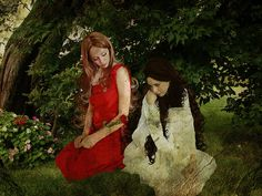 Snow White and Rose Red  By Krystn Palmer Photography