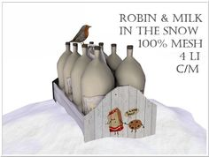 Second Life Marketplace - LOVE - MILK AND ROBIN IN THE SNOW - 100% MESH