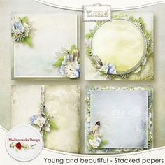Young and beautiful (Stacked papers) by Mediterranka Design http://www.myscrapartdigital.com/shop/index.php?main_page=product_info&cPath=24_94&products_id=3241