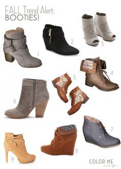 fall trend: booties. here are 9 cheap, affordable, and cute ones. #boots #fallstyle
