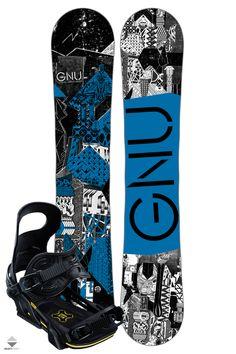 Komplet Snowboardowy Deska Wiązania Gnu Carbon Credit 159