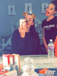 Kendall Vertes & Mackenzie Ziegler on Kendall's snapchat story