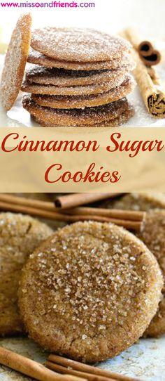 Delicious and Easy Cinnamon Sugar Cookies.