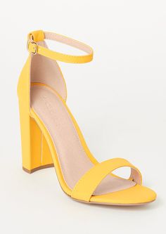 Faux nubuck leather pumps detailed in yellow with a toe strap and buckled ankle. Prom Heels, Wedding Heels, Leather Panel Leggings, Pretty Heels, Special Occasion Shoes, Leather Pumps, Girls Shoes, Dress Shoes, Outfits