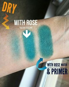 Primer really does make a difference, add the rose water with it and WOW youve got a vibrant color.  www.lashesbychrissie.com