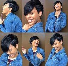 50 Stylish Short Hairstyles for Black Women 50 Stylish Short Hairstyles for Black Women Sexy short hair with deep side part bangs Bump Hairstyles, Easy Hairstyles For Medium Hair, Short Black Hairstyles, Layered Hairstyles, Teenage Hairstyles, American Hairstyles, Spring Hairstyles, Weave Hairstyles, Pretty Hairstyles