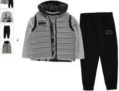 Character Gilet Set Infant Boys Batman Junior Hooded Vest Long Sleeve T-shirt Joggers Pants Jogger Pants, Joggers, Infant Boys, Hooded Vest, Hoods, Russia, Kids Outfits, Baby Boy, Batman