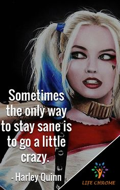 Harley Quinn quotes are the quotes for you to be inspired and get done more. Harley Quinn Tattoo, Harley Quinn Drawing, Harley Quinn Comic, Badass Quotes, Crazy Quotes, True Quotes, Funny Quotes, Deep Quotes, Mood Quotes