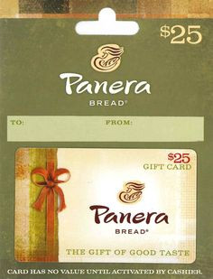 Panera Bread Gift Card $25: Amazon.com: Gift Cards