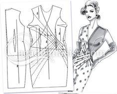 Master en Patronaje: Draped wrap gown