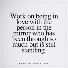 Work on Being in Love with the Person