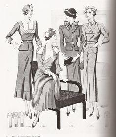 Late 1930s Fashion