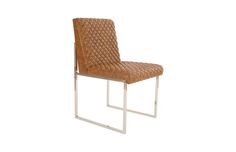 PH79087 / Lancastter Chair, Cognac Quilted, SS Base