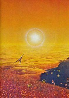 PETER GOODFELLOW Sci Fi Kunst, Science Fiction Kunst, Les Reptiles, 70s Sci Fi Art, Spaceship Art, Fantasy Illustration, Fantasy Landscape, Space Travel, Retro Futurism