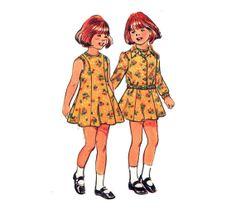 ON SALE Girl's Dress Pattern Vintage 70s Sewing by HoneymoonBus, $5.59
