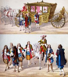French Ancien Régime. Costume of the court of Louis XIV.