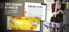 As Seen In Sunday style: Tangerine & Rose Cleanser. Australian skincare made in the pure Australian environment.