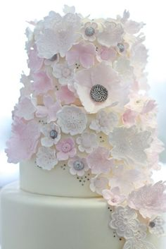 frilly gum paste flowers