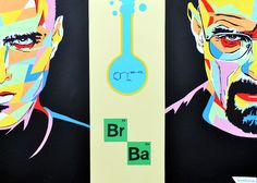 "My pop-art collage ""Breaking bad"" movie poster... Acrylic paint+colored paper"