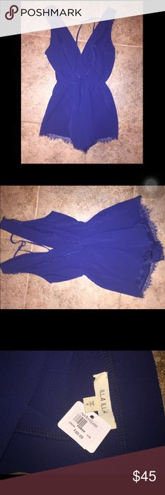 A very cute, classy romper. It is V cut open back with the strings to tie at the top. The front is V cut as well with fringes on the bottom, sleeve, and front. Illa Illa Other