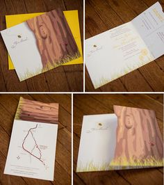 Cute wedding invitation idea.
