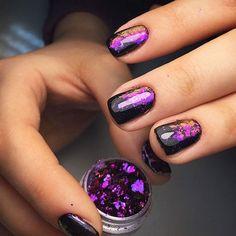 100 Charming Purple Nail Art Designs For Trendy Women Nail Art Violet, Purple Nail Art, Purple Glitter, Purple Gold, Shellac Nails, Diy Nails, Cute Nails, Shellac Pedicure, Gel Manicures