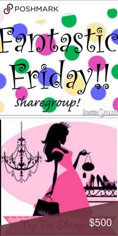 FRIDAY! (OPEN)🥂 Share 10 items from each persons closet who signs up. You may begin sharing anytime. Group closes at 2 PM Est. You have until midnight to complete your shares! As always everyone is welcome as long as your closet is posh compliant. Please Remember ; IF U ARE SHARING WITH MULTIPLE GROUPS IT CAN GET CONFUSING AS GROUPS SHARE DIFFERENT AMTS. PLEASE KEEP TRACK OF THE GROUP U ARE SHARING WITH THE AMOUNT OF SHARES NEEDED. WE ALL WANT TO BE FAIR ! NOT COMPLETING SHARES WILL GET U…