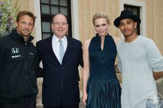 Queens & Princesses -  Prince Albert and Princess Charlene hosted a reception at the Prince's Palace in honor of the Monaco Grand Prix