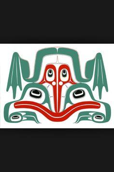 Frog serigraph by Robert Davidson, Haida Native Canadian, Canadian Artists, American Indian Art, Native American Indians, Haida Tattoo, Indian Drawing, Haida Art, Tlingit, Native Design