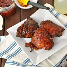 Invited to a cookout? Make your platter stand out. Chipotle and Worcestershire sauce take this BBQ chicken recipe to the next level.  Check out more recipes at The Way to His Heart.