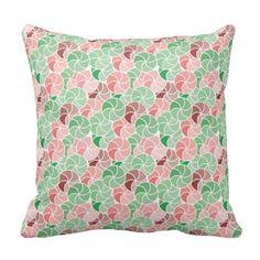 Geometric Confetti Umbrella Mosaic Throw Pillow 4