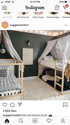 Girl And Boy Shared Room With Bunk Beds ` Girl And Boy Shared Room - Kinderzimmer Girls Bunk Beds, Kid Beds, Girls Bedroom, Girl Rooms, Modern Girls Rooms, Bunk Bed Rooms, Lego Bedroom, Bedroom Decor, Childs Bedroom