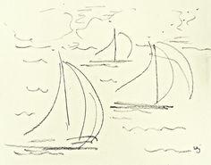 Original signed drawing Sailboats 17 8 x 10 by allthingsbarbara