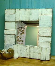 Beautiful mirror made out of old wood