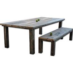 Solid Furn Handmade Reclaimed Pinewood Dining Room Table
