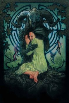 Drew Struzan made a poster for Guillermo del Toro's Pan's Labyrinth but for whatever strange reason they chose not to use it, basically at all. Description from forums.superherohype.com. I searched for this on bing.com/images