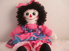 HANDMADE 20'' RAGGEDY ANN DOLL #DollswithClothingAccessories