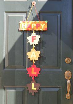 Arts Activities - Fall Door Hanger Craft