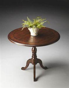 Masterpiece Nutmeg Wood Drop Leaf Accent Table