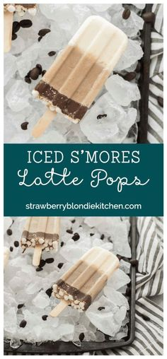 The flavors you love of s'mores and coffee combined to give you these Iced S'mores Latte Pops. One deliciously cool, refreshing and caffeine spiked popsicle! Frozen Desserts, Frozen Treats, Easy Desserts, Delicious Desserts, Dessert Recipes, Snack Recipes, Popsicle Recipes, Cupcakes, Pudding