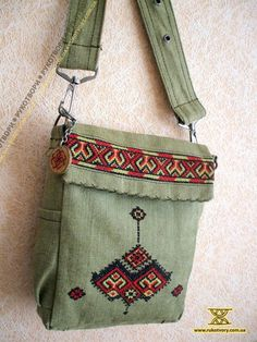 Cool embroidered cross shoulder bag #ukrainian